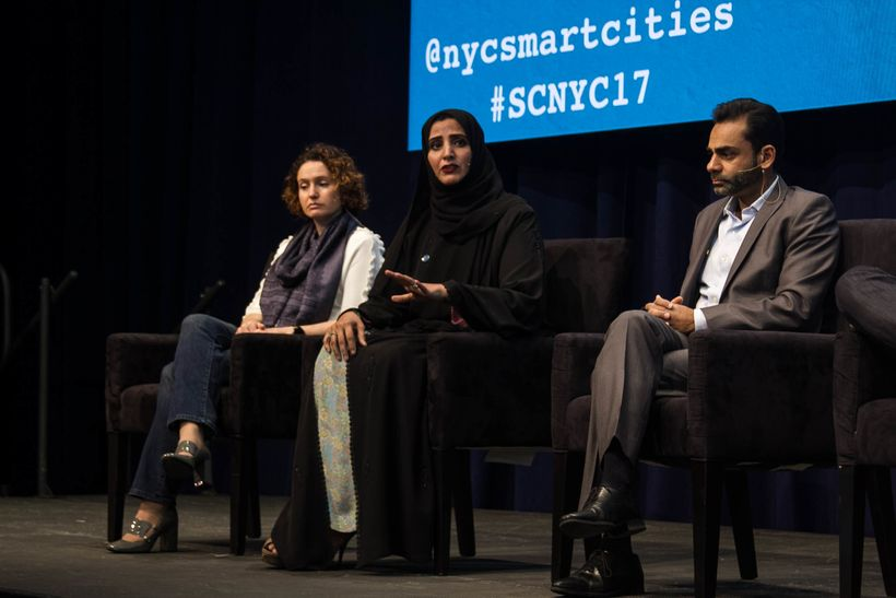 Dr. Aisha Bin Bishr at the Smart Cities Conference in NYC