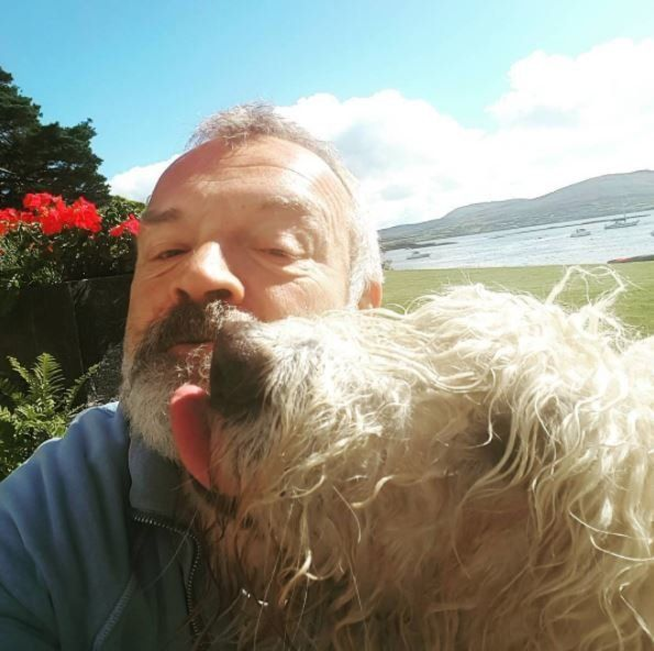 Graham Norton and his dog