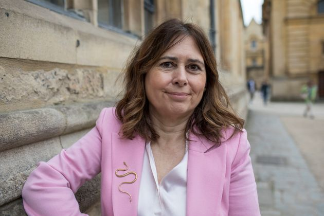 Alexandra Shulman, novelist and editor in chief of British Vogue, at the FT Weekend Oxford Literary Festival...