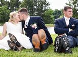 'Heartbroken' Best Man Gatecrashes Bride And Groom's Wedding Photos And It's Comedy Gold