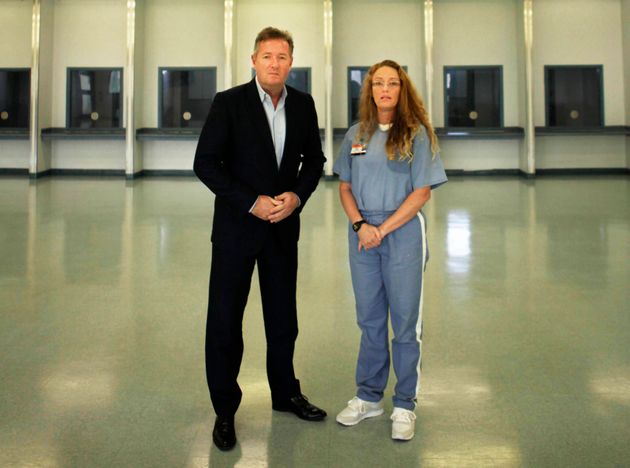Piers Morgan with convicted murderer Rebecca Fenton at Lowell Correctional Institution in
