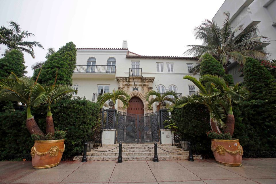The South Beach mansion once owned by Italian designer Gianni Versace as it headed for the auction block in 2013. (AP Photo/A