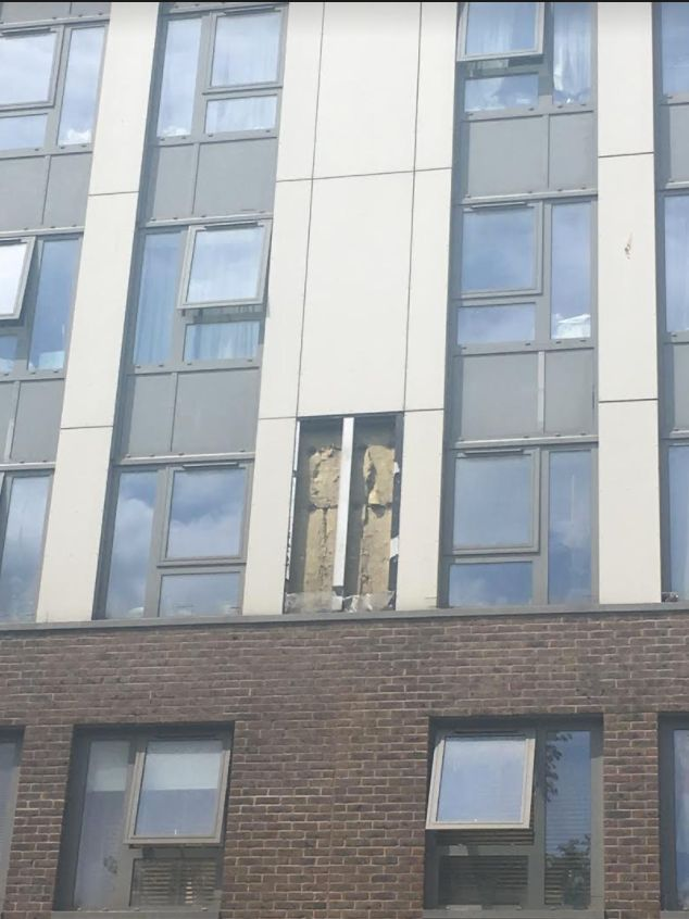Cladding from five blocks atChalcots Estate in Camden will be removed; the picture above shows...