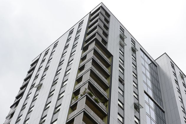 A general view of Rivers Apartments in Tottenham, North London, where a review is being carried out on...