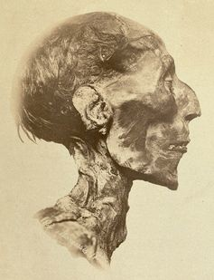 Ramses II, photographed in 1889.