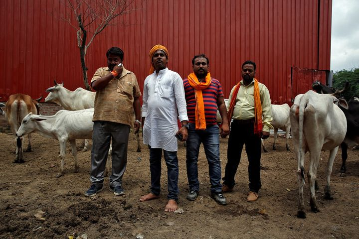 Hindu nationalist cow vigilantes in Uttar Pradesh.