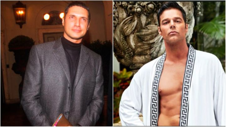 L: Antonio D'Amico in 1998. R: Ricky Martin as D'amico.