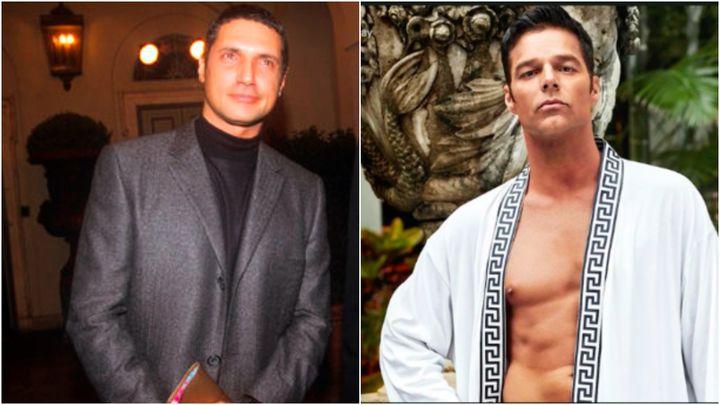 L: Antonio D'Amico in 1998. R: Ricky Martin as D'amico.