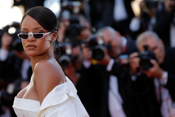 All eyes on Rih's new Manolo Blahnik collaboration.
