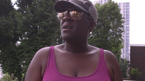 Chantal Peters has lived in the block for 22 years and says she doesn't feel