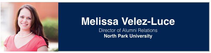 Melissa Velez-Luce   Director of Alumni Relations, North Park University