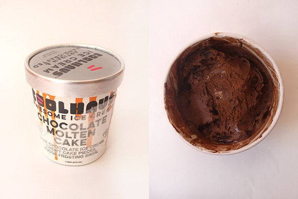 "Rich milk chocolate ice cream with chewy chocolate cake bites and a fudgy swirl.<br><br><i>Tasting notes: ""I could get lost i"