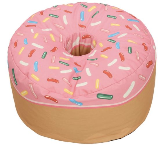 "Buy the <a href=""https://www.houzz.com/photos/41832094/Donut-Adult-Sized-Beanbag-Pink-eclectic-bean-bag-chairs"" target=""_blan"