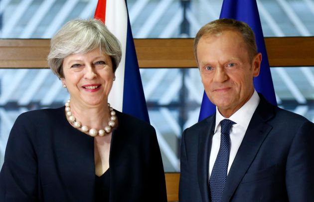 Theresa May met Tusk on Thursday during a summit of EU leaders in Brussels, her first visit there since...
