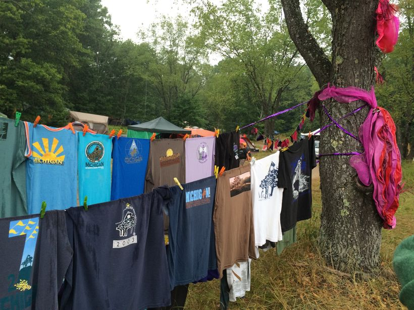 T-shirts at the Michigan Womyn's Music Festival 2015.