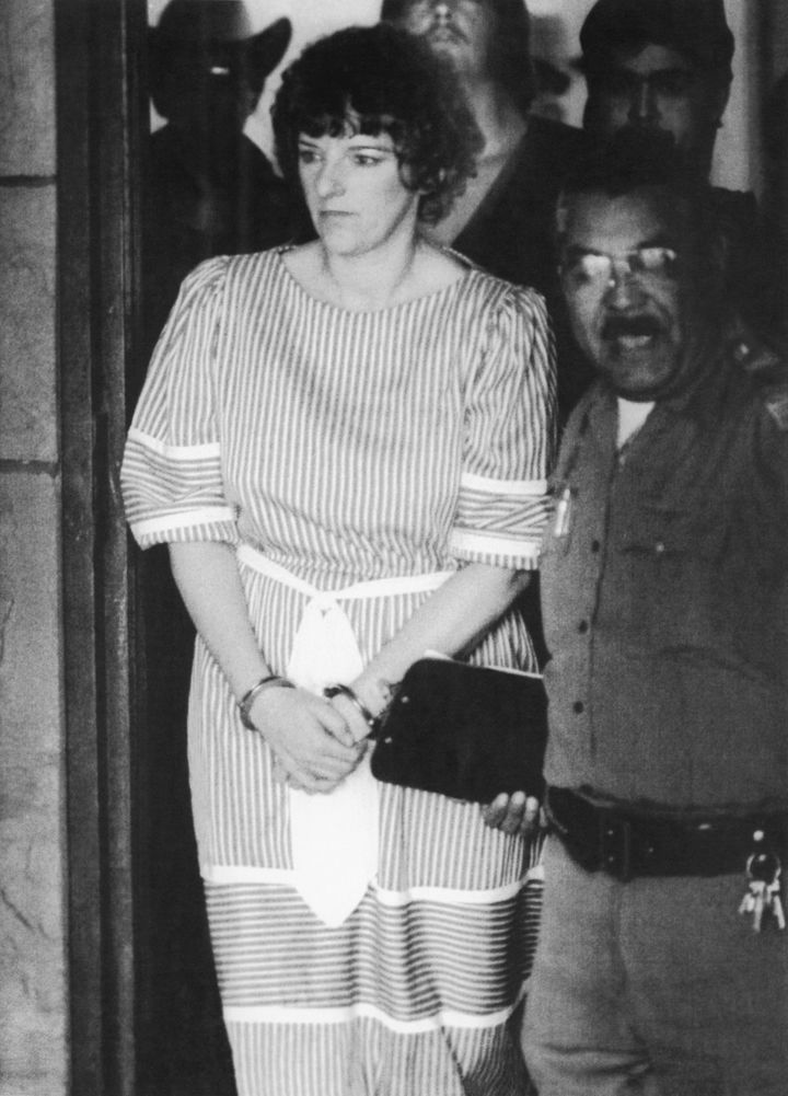 Convicted baby killer Genene Jones at a 1984 court hearing. Jones is thought to have killed up to 60 infants in her care.
