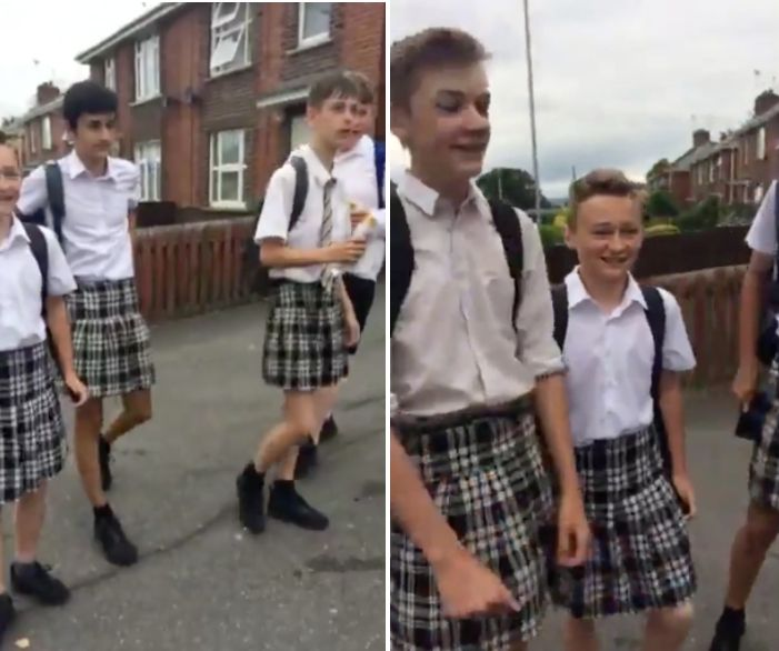 Boys Wear Skirts To Protest School's Anti-Shorts Policy Amid Heat