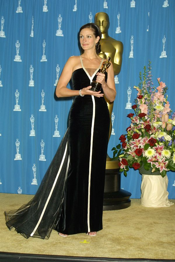 Roberts arguably won best dressed of all time in this stunning Valentino gown at the 2001 Oscars, where she also won Best Act