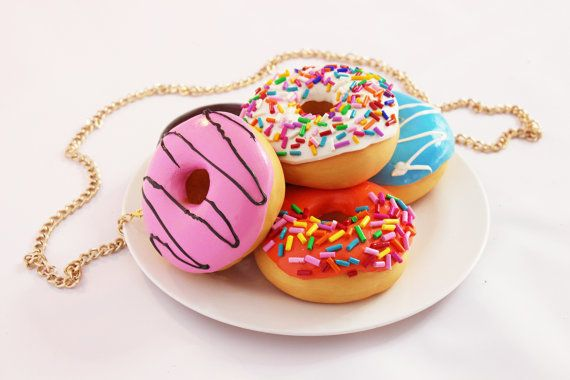 "Buy the rommydebommy <a href=""https://www.etsy.com/listing/480733580/donuts-on-plate-clutch-donut-doughnuts?ref=shop_home_act"