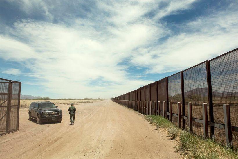 Border Patrol along ten and half miles of Ladd Ranch - Mexico border.