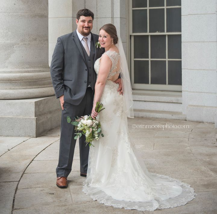 Jake and Andria Farthing on their June 17 wedding.