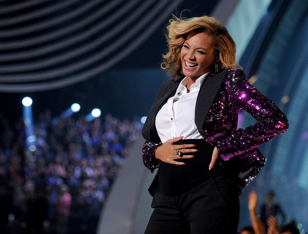 While it's what was underneath her sparkly, purple tuxedo jacket that made headlines, Beyoncé's Dolce & Gabba