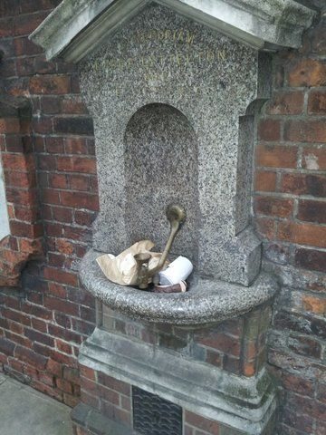 Many public drinking water fountains suffer from lack of regular cleaning and maintenance.