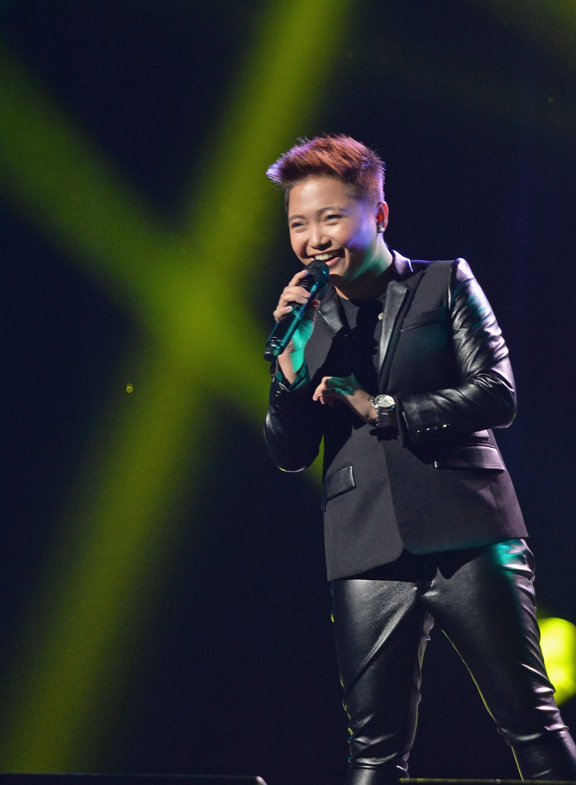 NEW YORK, NY - MARCH 11:  Singer Charice performs during the Pinoy Relief Benefit concert at Madison Square Garden on March 11, 2014 in New York City.  (Photo by Mike Coppola/Getty Images)