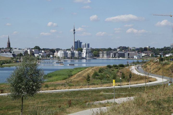 Phoenix Lake, Dortmund's coolest new quarter, was once an abanonded steel mill surrounded by polluted waterways and brownfiel