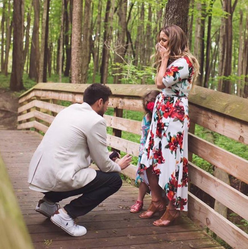 This Guy Proposed Then Made His Fiancée's Daughter A Heartwarming
