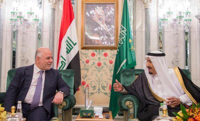 Iraqi Prime Minister Haider al-Abadi meet Saudi King Salman bin Abdulaziz in Jeddah, Saudi Arabia, 19th June 2017