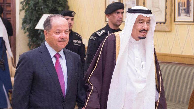 Saudi Arabia's King Salman received Kurdistan Region of Iraq (KRG)'s President Massoud Barzani in Riyadh for talks on enhanci