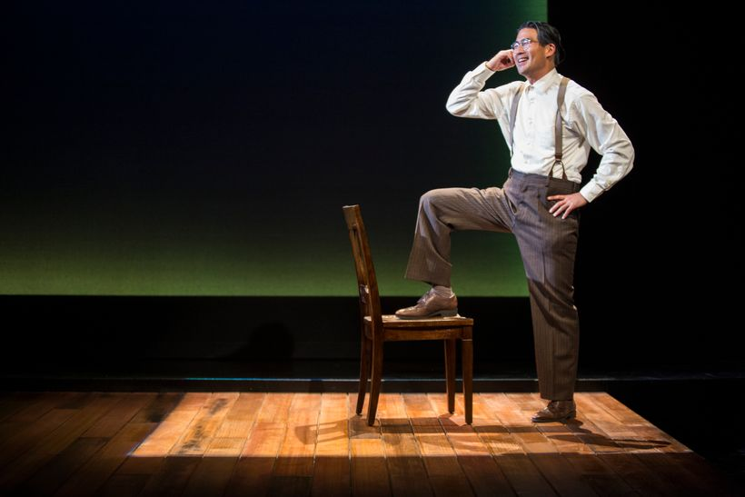 Actor Ryun Yu in<em>HOLD THESE TRUTHS</em>at Pasadena Playhouse.