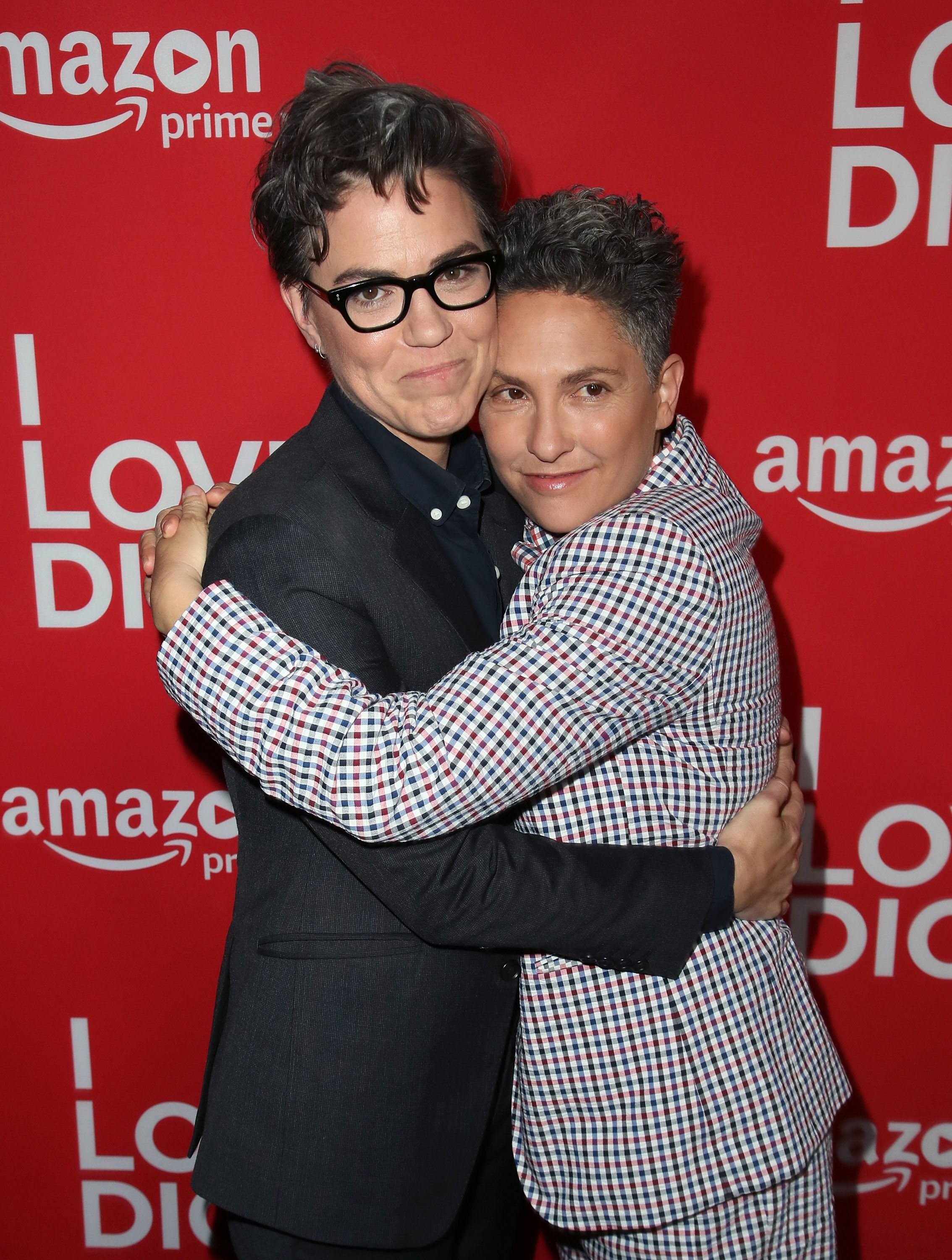 Sarah Gubbins (L) and Jill Soloway attend the premiere of Amazon's 'I Love Dick' at the Linwood Dunn Theater on April 20, 201