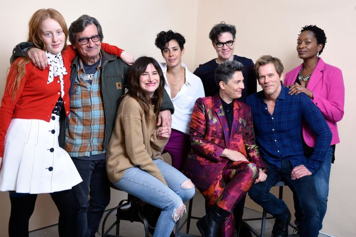 Actors India Menuez, Griffin Dunne, Kathryn Hahn, Roberta Colindrez, writer/producer Sarah Gubbins, director Jill Soloway, ac