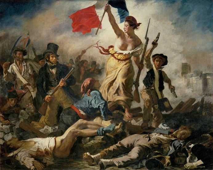 Liberty Leading the People, Eugène Delacroix, 1839, oil on canvas, Louvre, Paris