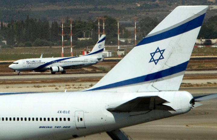 El Al airplanes are seen on the runway at Ben Gurion International airport near Tel Aviv August 22, 2011. The airline, Israel