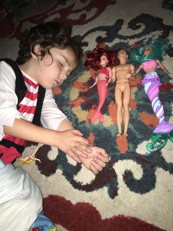 """""""Obsessed with Barbies, mostly mermaids."""""""