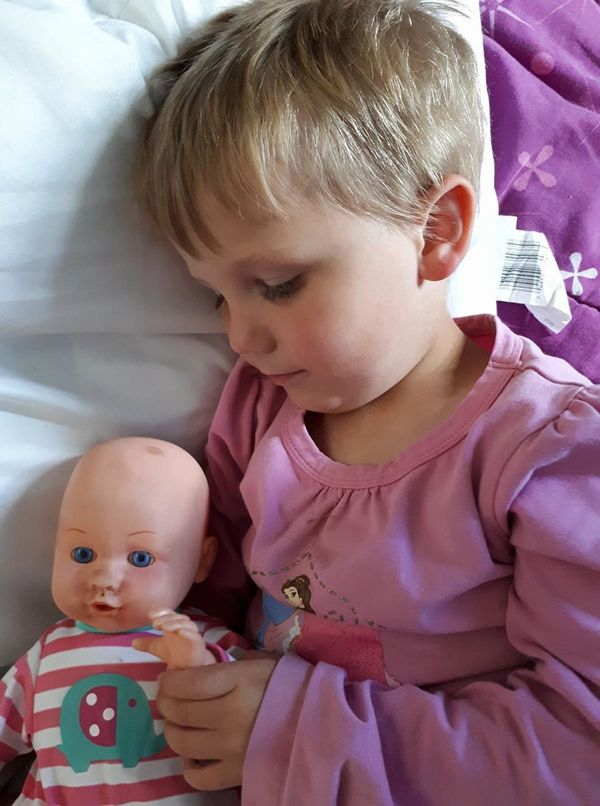 """""""3.5-year-old Silas playing with one of his babies. We don't do gender-specific in this house."""""""