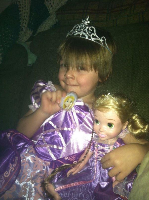 """""""Caden carried Rapunzel everywhere when he was little! Now he makes one heck of a babysitter!!"""""""