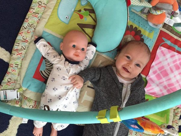 """""""My baby boy loved to 'talk' to this doll. He seemed to think it was another baby."""""""