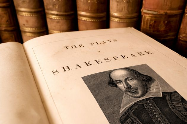 Pupils were studying Shakespeare's