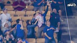 Fan Goes For Foul Ball While Holding A Baby, Won't Do That