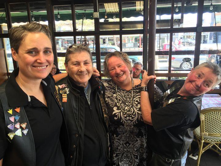 Dykes On Bikes, a nonprofit lesbian motorcycle organization.
