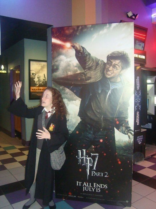 "Kelly Irelan at the midnight premiere of ""Harry Potter and the Deathly Hallows"" Part II in Vineland, NJ."