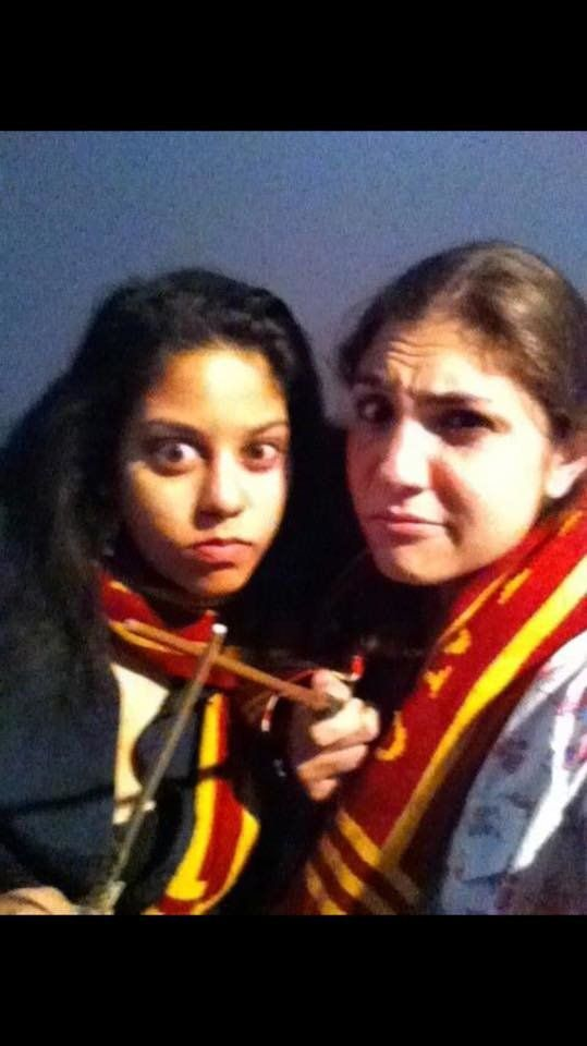 "Saleena Beharry and friend at the ""Harry Potter and the Deathly Hallows"" Part II midnight film premiere in Yonkers, NY."