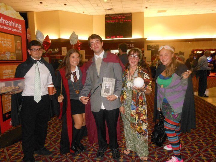 "Diana Monno (and friends) at the premiere of ""Harry Potter and the Deathly Hallows"" Part II on Long Island, New York."