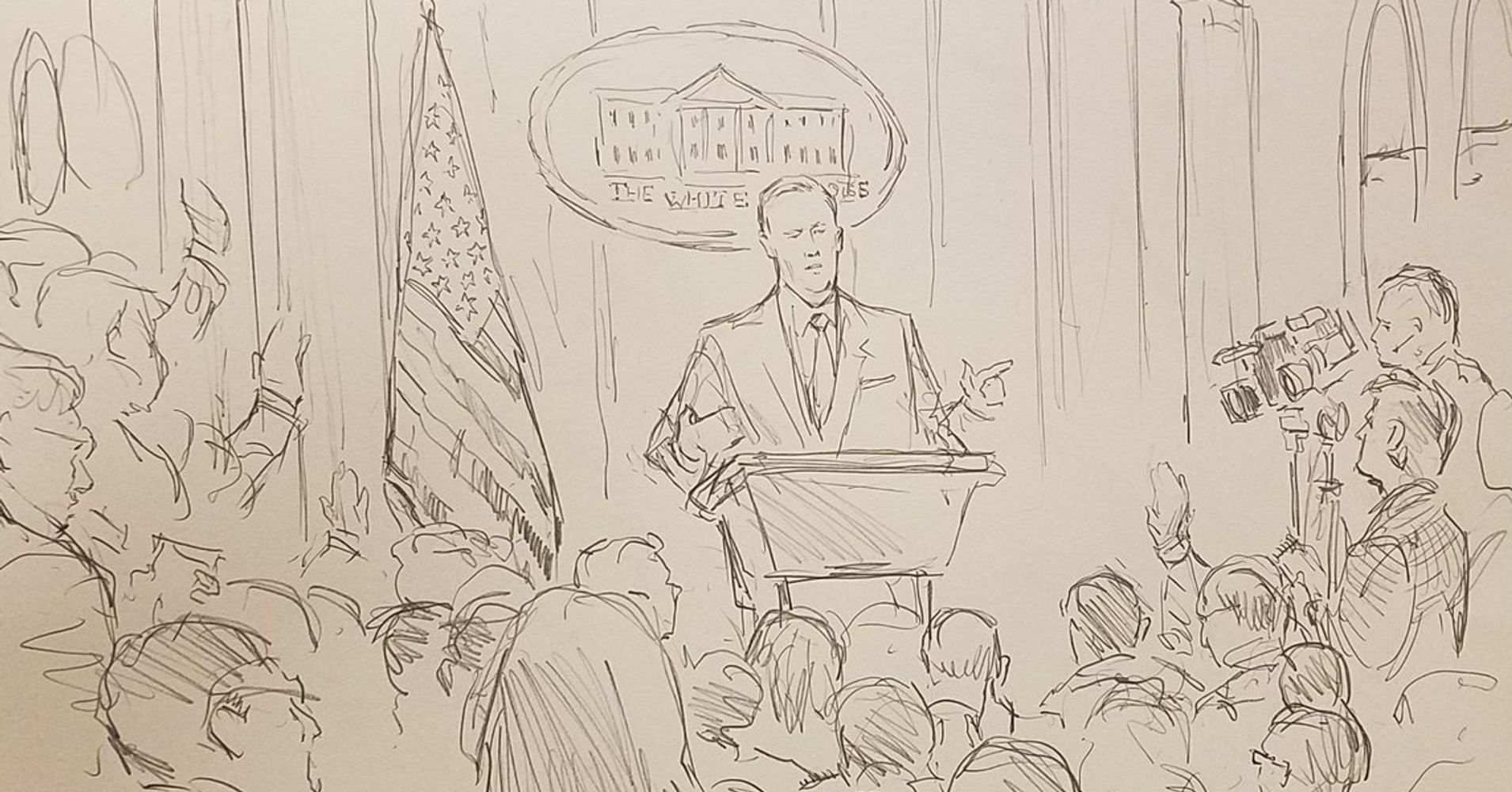CNN Trolls The White House By Sending Sketch Artist To Press Briefing