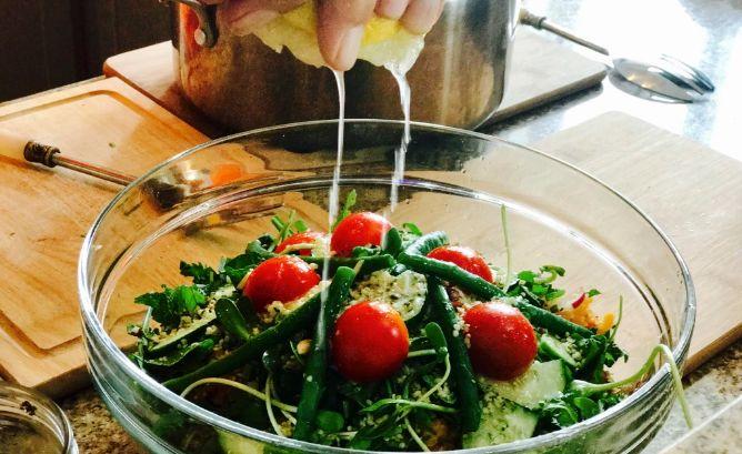 Adding zesty lemon juice makes this salad a winner.