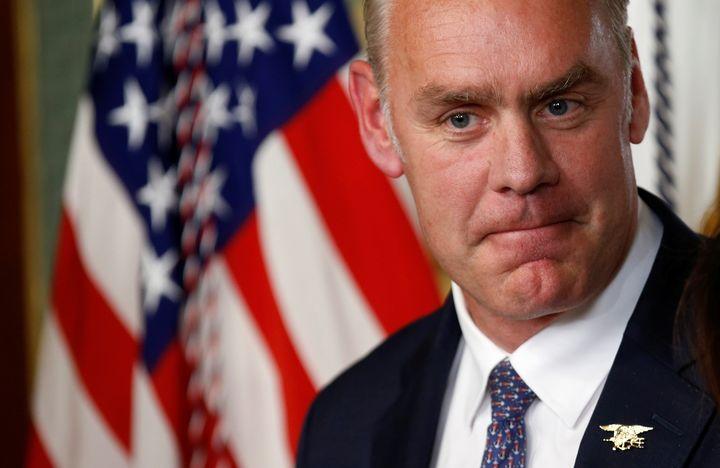 Interior Secretary Ryan Zinke was sworn into his post on March 1.